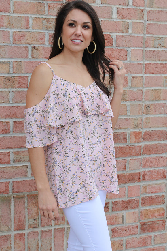 Maybe This Is Love Floral Top (Pink)