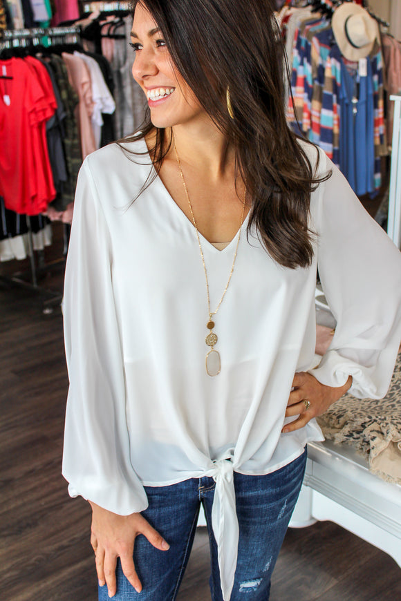 The New Me Blouse (Ivory)