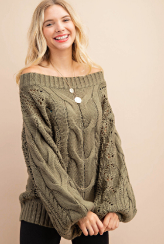 When The Leaves Fall Sweater(Olive)