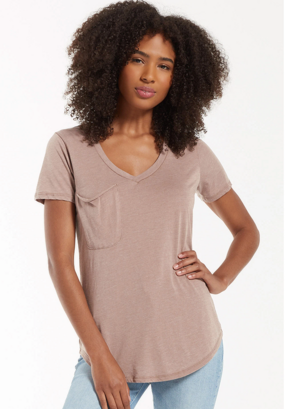 Z Supply Pocket Tee (Taupe Grey)