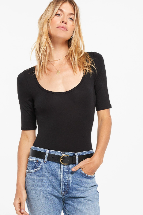 Z Supply Cara Sleek Scoop Bodysuit