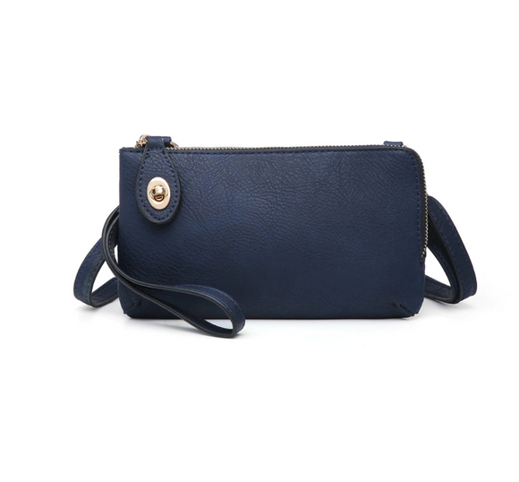 Jen & Co Twist Lock Crossbody (Navy)