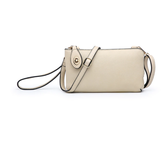 Jen & Co Twist Lock Crossbody (Ivory)