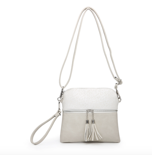Monogrammable Tassel Zip Crossbody