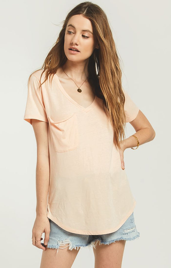 Z Supply Pocket Tee (Apricot)