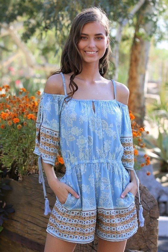 Boho Cold Shoulder Romper