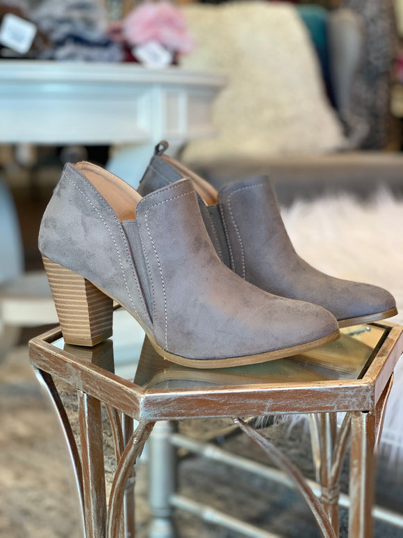 The Mia Bootie (Grey)
