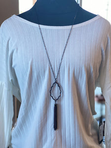The Kenzie Necklace (Gun Metal)