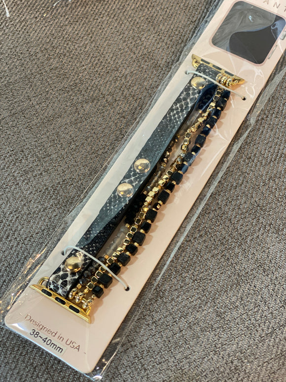 Apple Beaded Watch Band