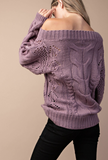 When The Leaves Fall Sweater(Ash Purple)