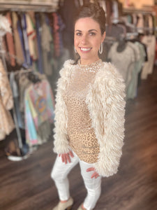 Party Fur Jacket (Cream)