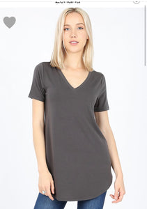 Curvy Relaxed Fit Tee (Ash Grey)