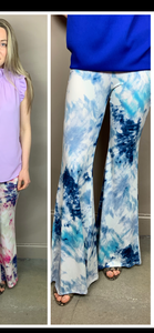 My Motivation Tie Dye Flares