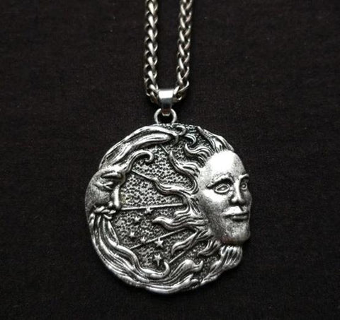 Sun + Moon Pendant - The Triple Goddess