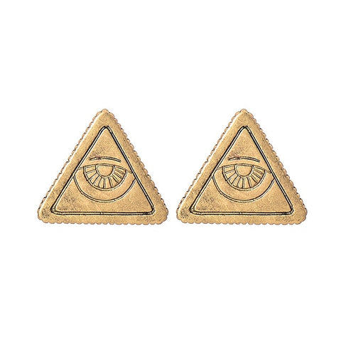 Geometric Evil Eye Studs - The Triple Goddess