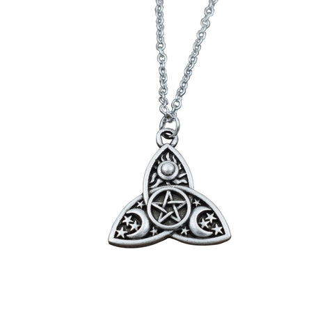 Triple Moon Goddess Necklace - The Triple Goddess