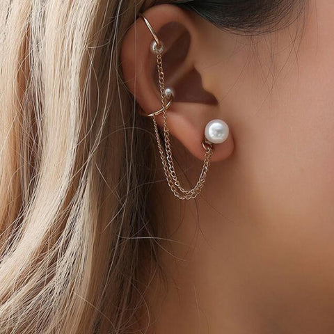 Pearl Ear Cuff - The Triple Goddess