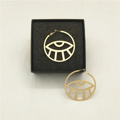 Evil Eye Hoops - The Triple Goddess