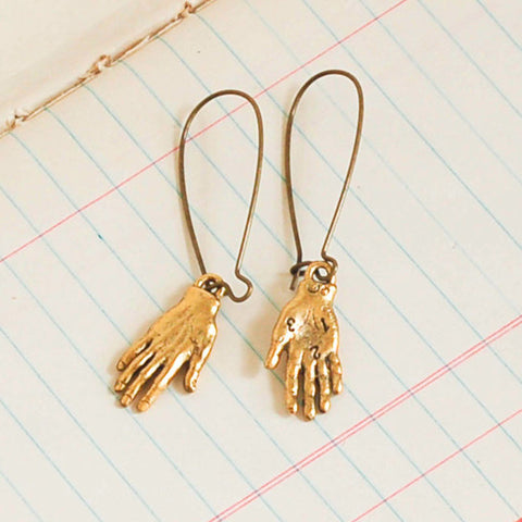 Palmistry Drop Earrings - The Triple Goddess