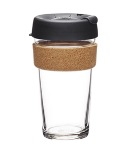 KeepCup Black Brew Cork (16oz)