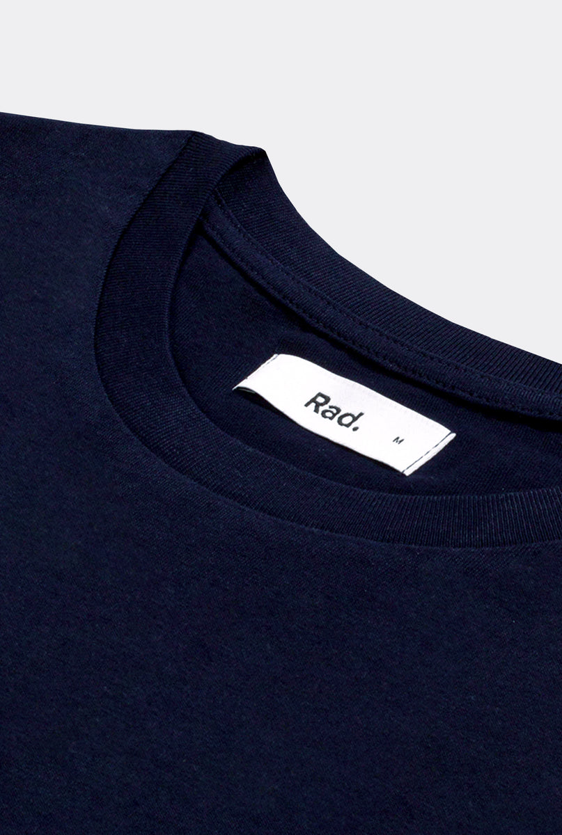 T-Shirt S/S Navy Miss You More - Embroidered
