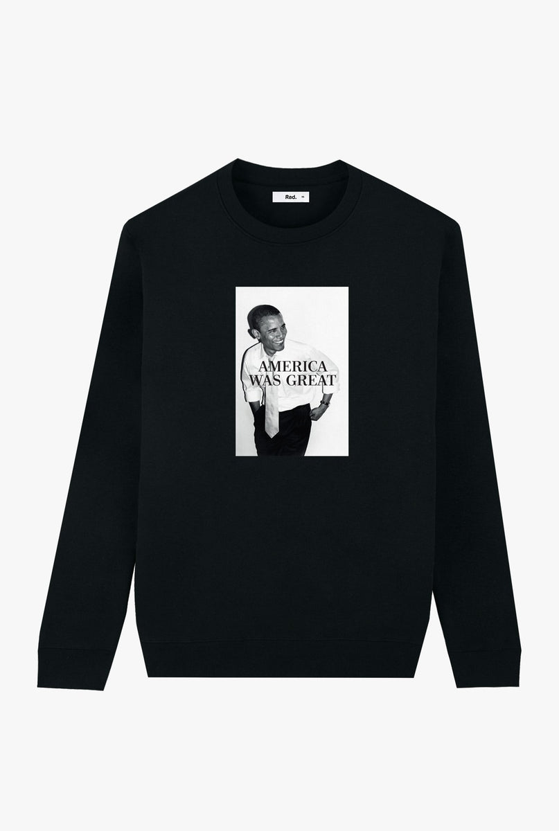 Crewneck Black America Was Great