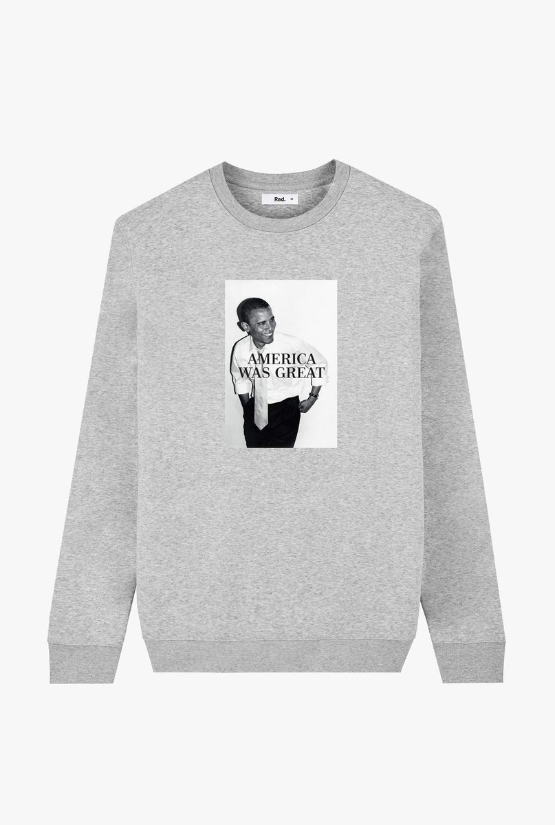 Crewneck Heather Grey America Was Great