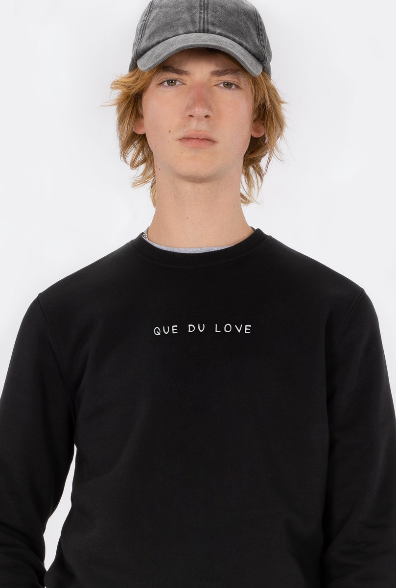 Crewneck Que Du Love - Embroidered