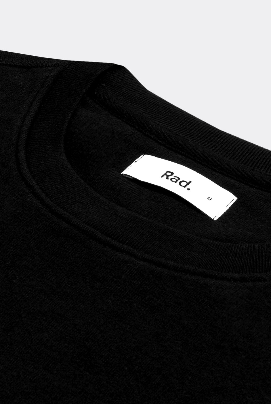 Crewneck Black Classic Rad - Embroidered