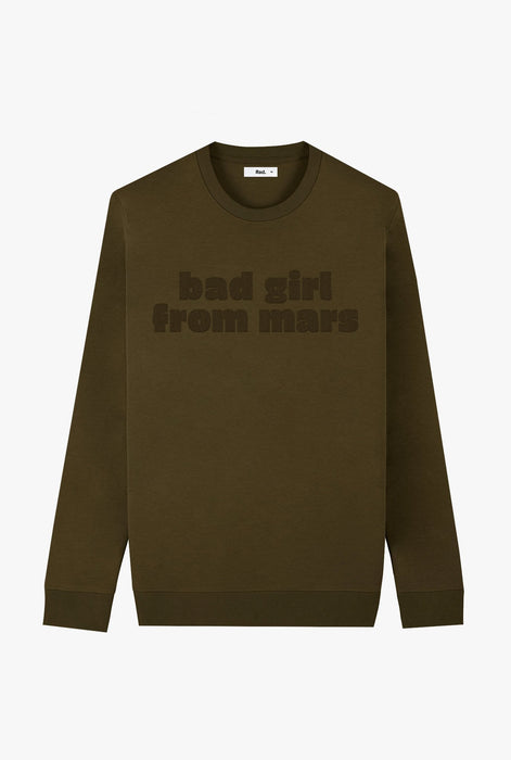 Crewneck Khaki Bad Girl From Mars
