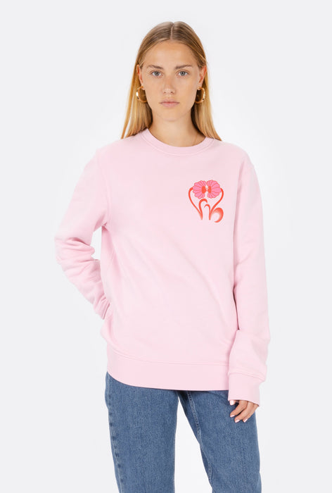 Crewneck Kissing Flowers