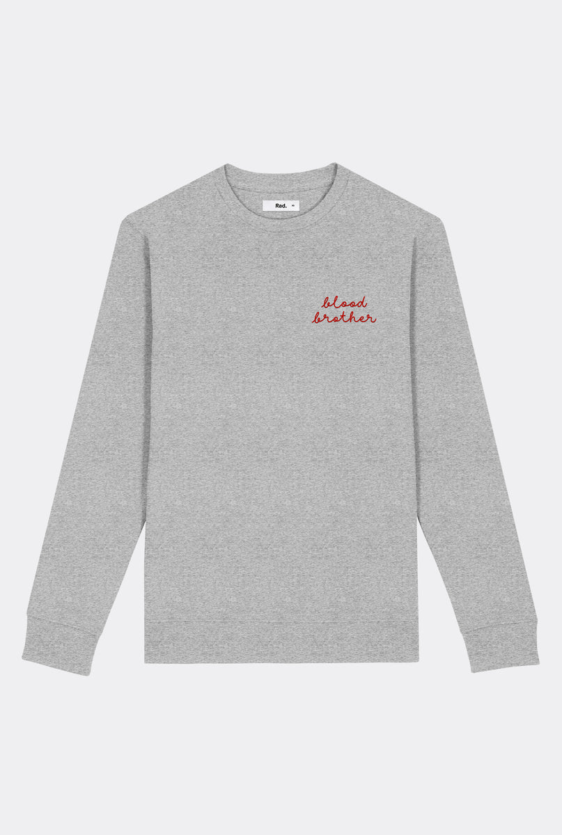 Crewneck Blood Brother - Embroidered