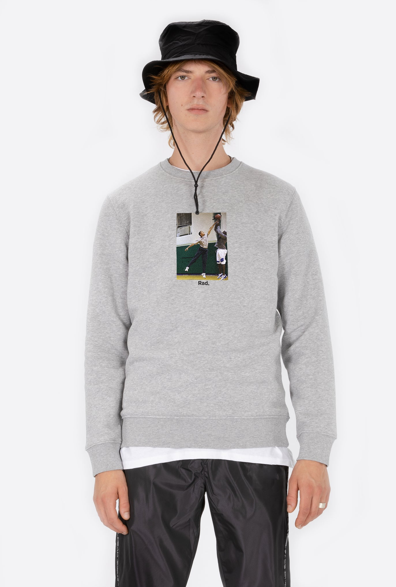 Crewneck Heather Grey Obama Ballin