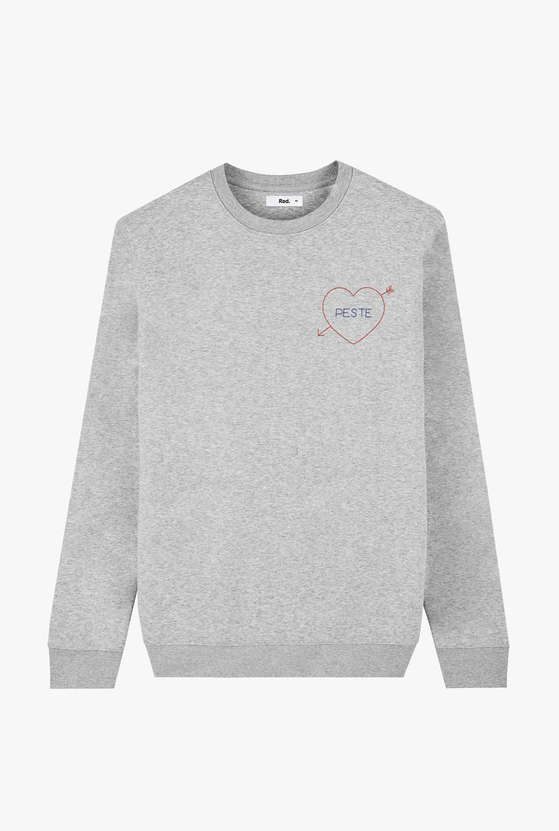 Crewneck Heather Grey Peste