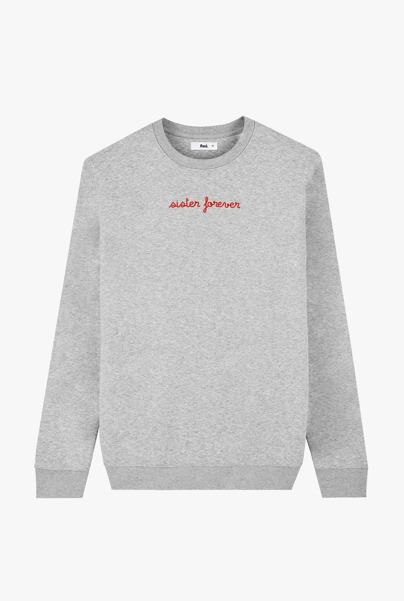 Crewneck Heather Grey Sister Forever