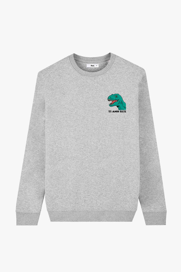 Crewneck Heather Grey Ti Amo Rex