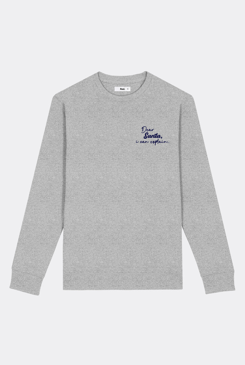 Crewneck Dear Santa - Embroidered