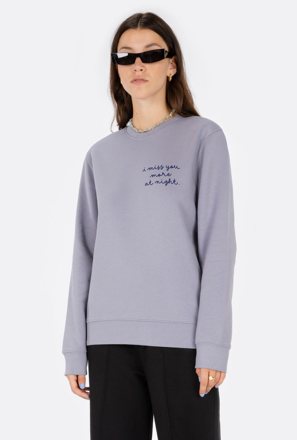 Crewneck Miss You More - Embroidered