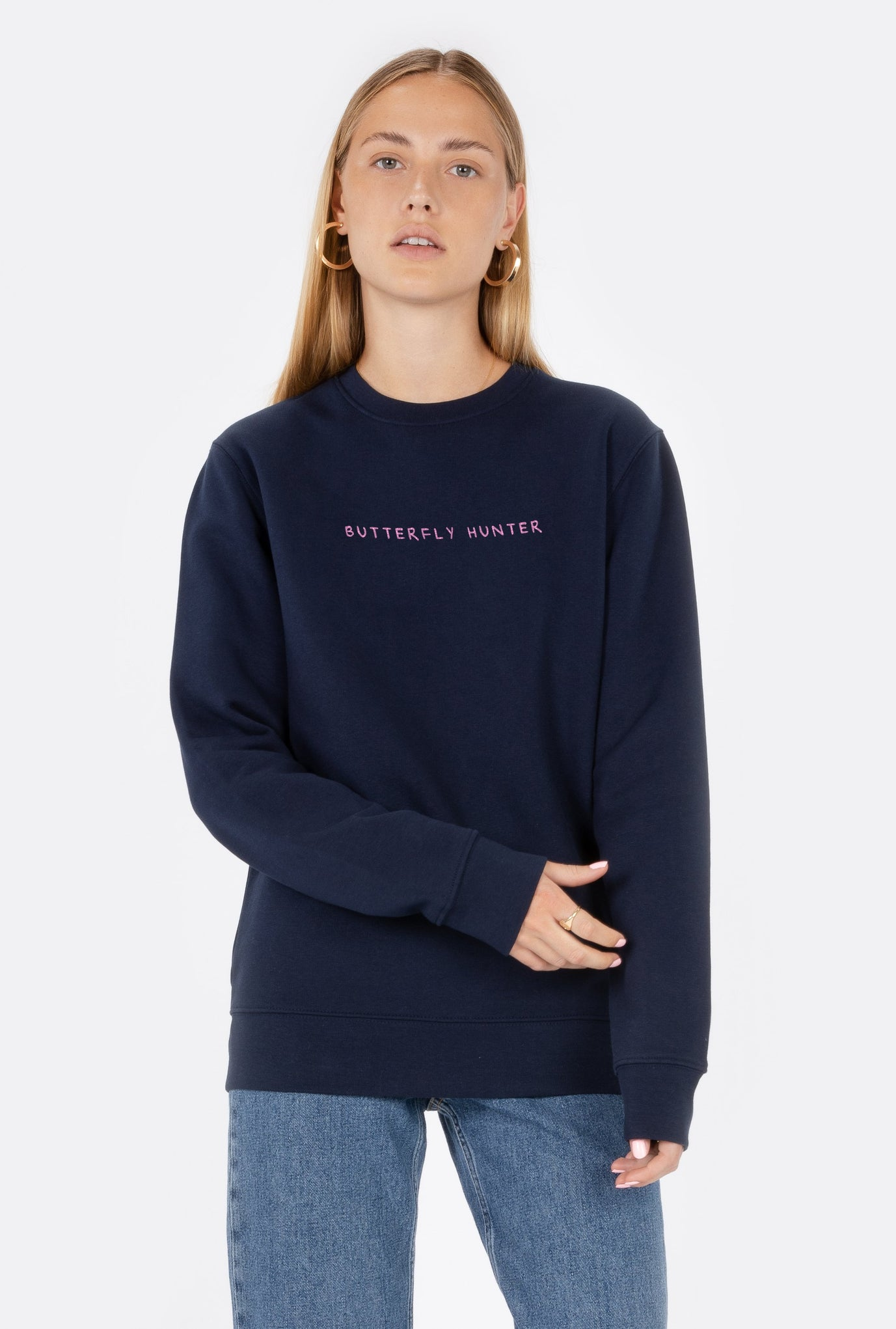 Crewneck Butterfly Hunter - Embroidered