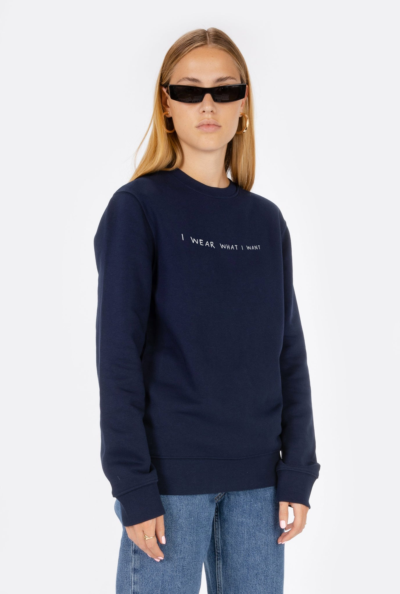 Crewneck I Wear What I Want - Embroidered