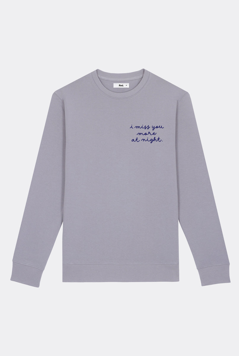 Crewneck Lava Grey Miss You More - Embroidered