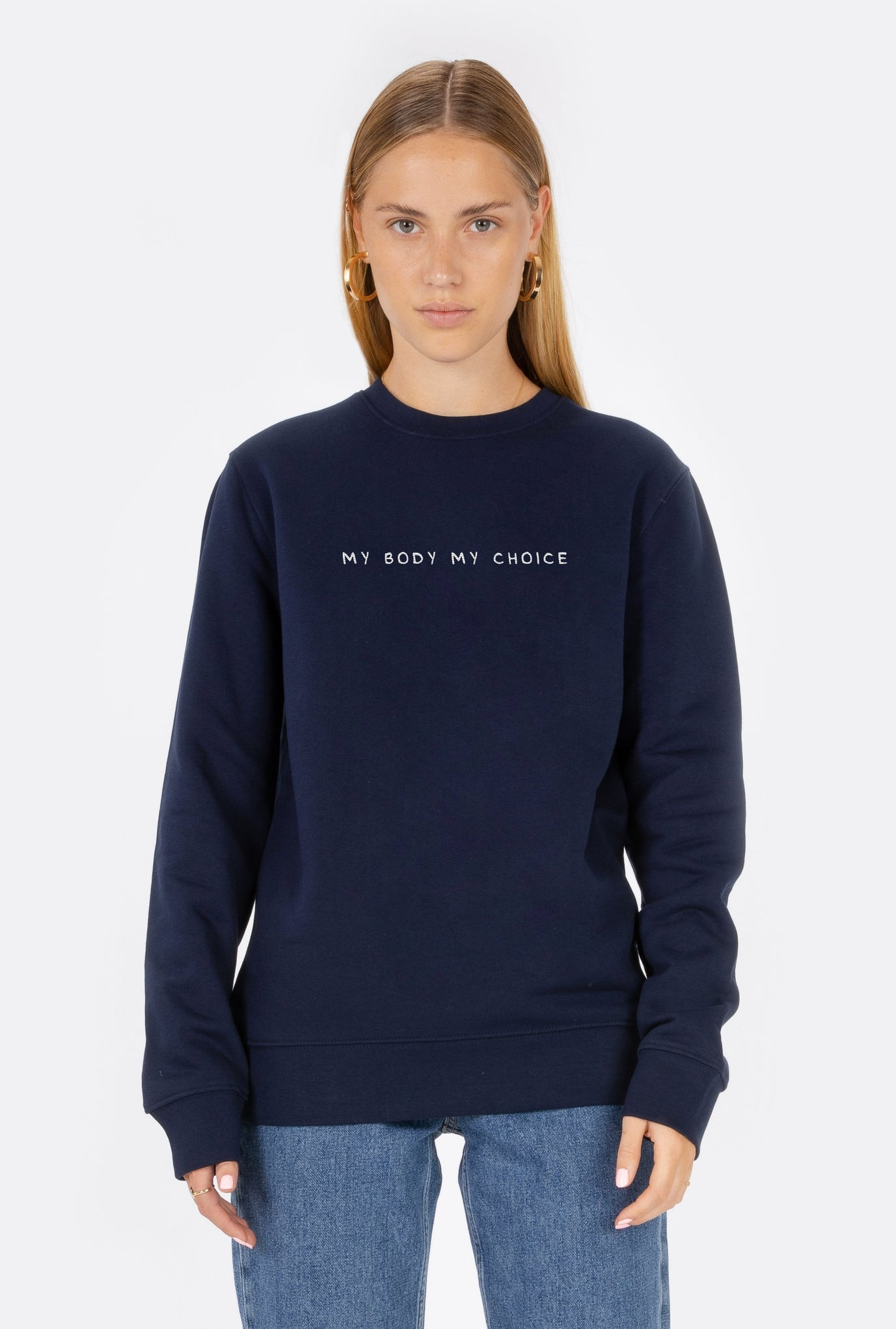 Crewneck My Body My Choice - Embroidered