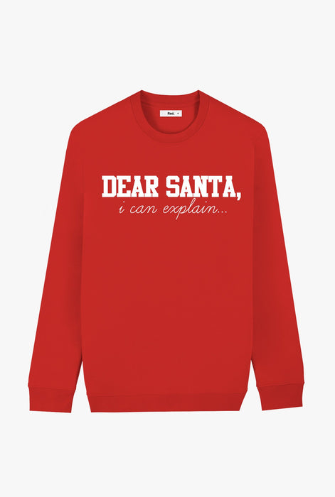 Crewneck Red Dear Santa