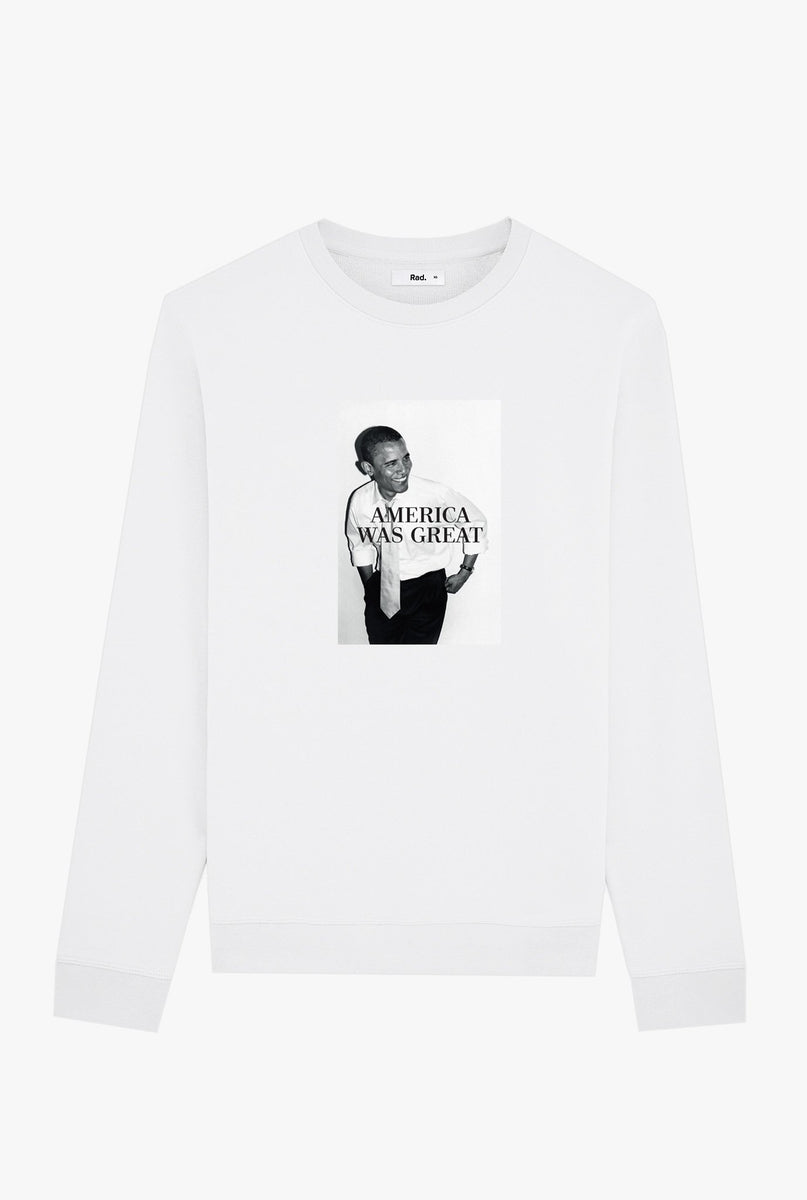 Crewneck White America Was Great