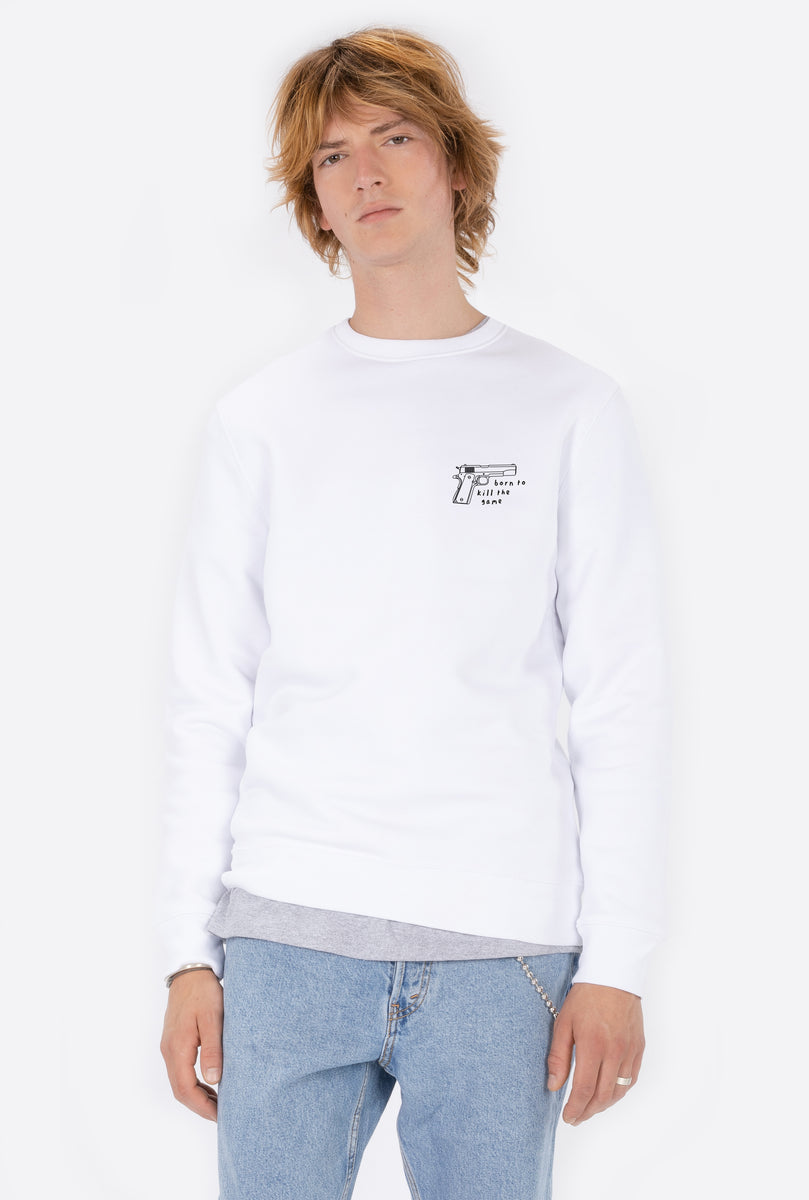Crewneck White Born to Kill