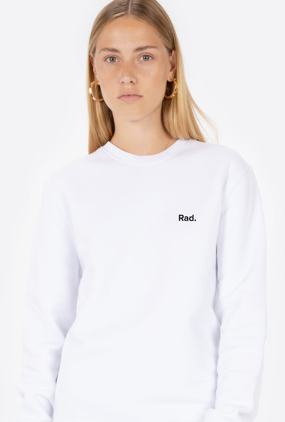 Crewneck White Classic Rad - Embroidered