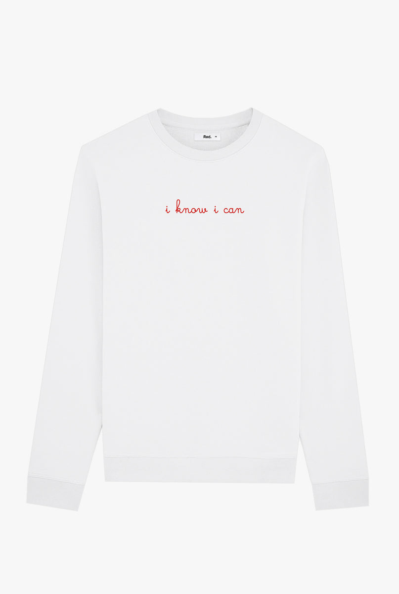 Crewneck White I Know I Can