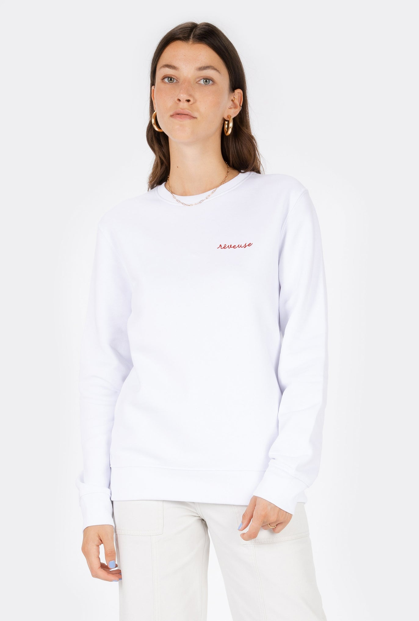 Crewneck Rêveuse - Embroidered