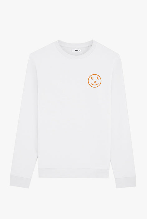 Crewneck White Smiley