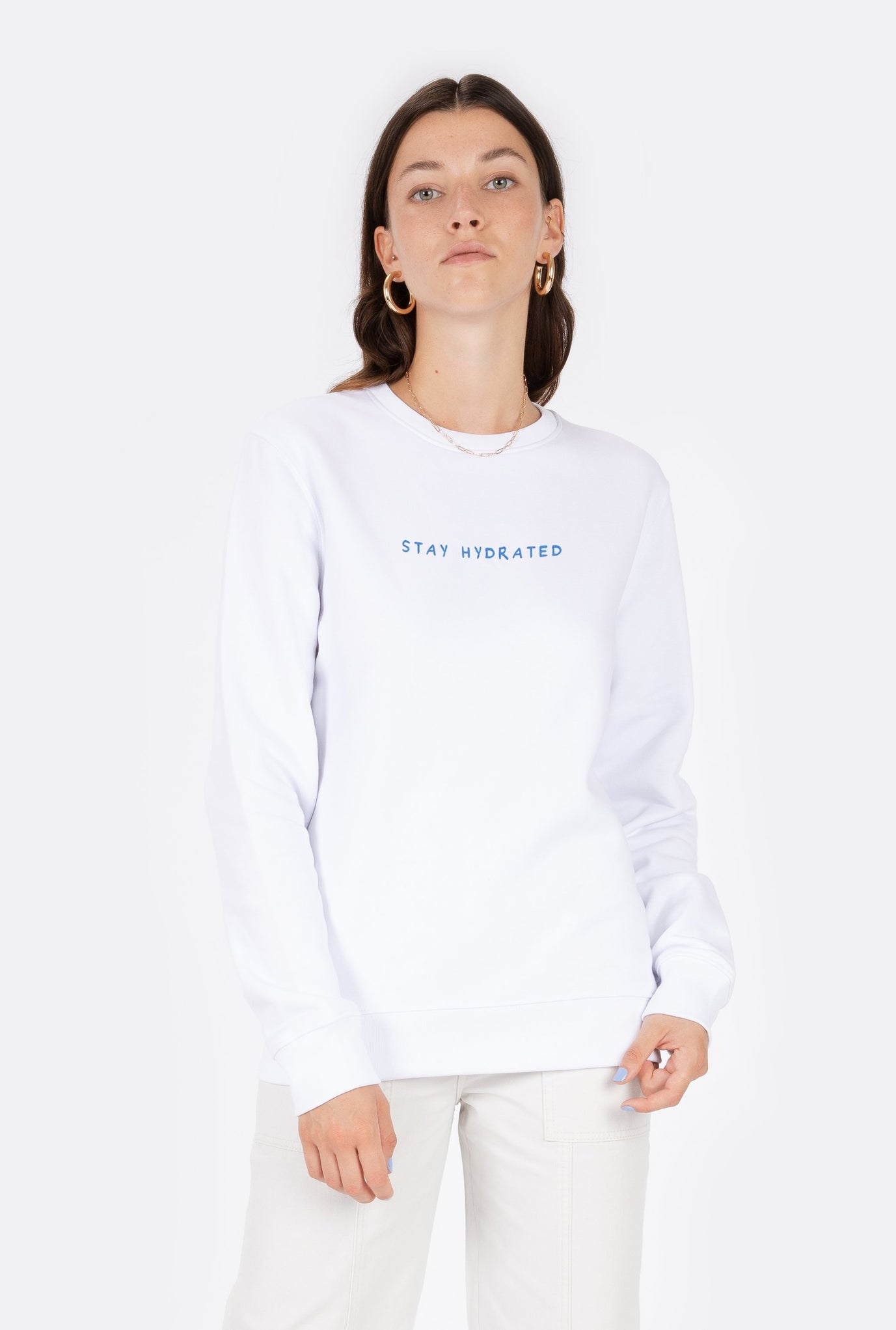 Crewneck Stay Hydrated - Embroidered